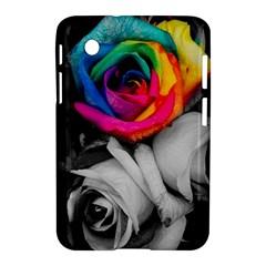 Blach,white Splash Roses Samsung Galaxy Tab 2 (7 ) P3100 Hardshell Case