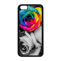 Blach,white Splash Roses Apple Iphone 5c Seamless Case (black) by MoreColorsinLife