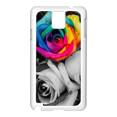 Blach,white Splash Roses Samsung Galaxy Note 3 N9005 Case (white)