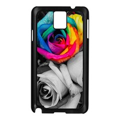 Blach,white Splash Roses Samsung Galaxy Note 3 N9005 Case (black)