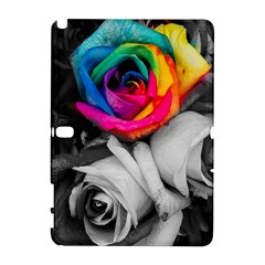 Blach,white Splash Roses Samsung Galaxy Note 10 1 (p600) Hardshell Case