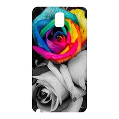 Blach,white Splash Roses Samsung Galaxy Note 3 N9005 Hardshell Back Case by MoreColorsinLife