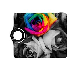 Blach,white Splash Roses Kindle Fire Hdx 8 9  Flip 360 Case