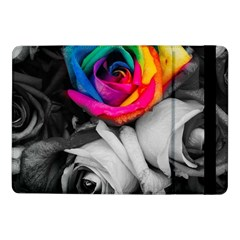 Blach,white Splash Roses Samsung Galaxy Tab Pro 10 1  Flip Case