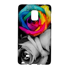 Blach,white Splash Roses Galaxy Note Edge