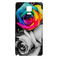 Blach,white Splash Roses Galaxy Note 4 Back Case