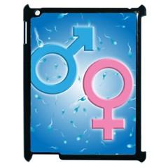 Sperm And Gender Symbols  Apple Ipad 2 Case (black) by ScienceGeek