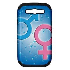 Sperm And Gender Symbols  Samsung Galaxy S Iii Hardshell Case (pc+silicone) by ScienceGeek
