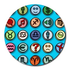 Emotion Pills Round Mousepads by ScienceGeek