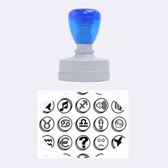 Emotion Pills Rubber Oval Stamps by ScienceGeek