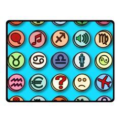 Emotion Pills Double Sided Fleece Blanket (small)  by ScienceGeek
