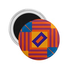 Shapes And Stripes Symmetric Design 2 25  Magnet by LalyLauraFLM