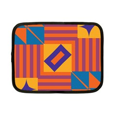 Shapes And Stripes Symmetric Design Netbook Case (small) by LalyLauraFLM