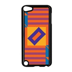 Shapes And Stripes Symmetric Design Apple Ipod Touch 5 Case (black) by LalyLauraFLM