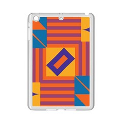 Shapes And Stripes Symmetric Design Apple Ipad Mini 2 Case (white) by LalyLauraFLM