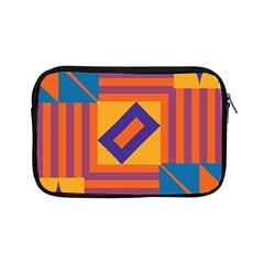 Shapes And Stripes Symmetric Design Apple Ipad Mini Zipper Case by LalyLauraFLM