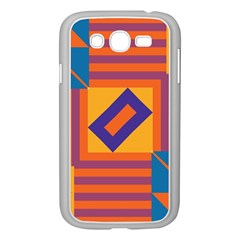 Shapes And Stripes Symmetric Design Samsung Galaxy Grand Duos I9082 Case (white) by LalyLauraFLM