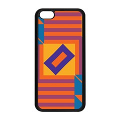 Shapes And Stripes Symmetric Design Apple Iphone 5c Seamless Case (black) by LalyLauraFLM