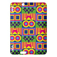 Colorful Shapes In Rhombus Pattern Kindle Fire Hdx Hardshell Case by LalyLauraFLM