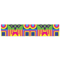 Colorful Shapes In Rhombus Pattern Flano Scarf by LalyLauraFLM