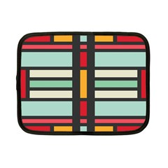 Mirrored Rectangles In Retro Colors Netbook Case (small) by LalyLauraFLM