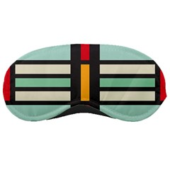 Mirrored Rectangles In Retro Colors Sleeping Mask by LalyLauraFLM