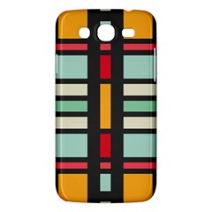 Mirrored Rectangles In Retro Colors Samsung Galaxy Mega 5 8 I9152 Hardshell Case  by LalyLauraFLM