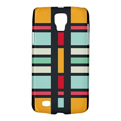 Mirrored Rectangles In Retro Colors Samsung Galaxy S4 Active (i9295) Hardshell Case by LalyLauraFLM