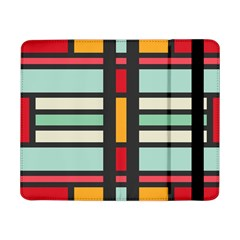 Mirrored Rectangles In Retro Colorssamsung Galaxy Tab Pro 8 4  Flip Case by LalyLauraFLM