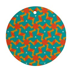 Sun Pattern Ornament (round) by LalyLauraFLM