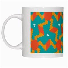 Sun Pattern White Mug by LalyLauraFLM