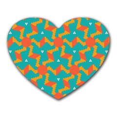 Sun Pattern Heart Mousepad by LalyLauraFLM