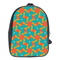 Sun pattern School Bag (Large) by LalyLauraFLM