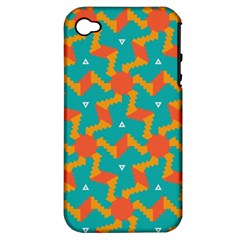 Sun Pattern Apple Iphone 4/4s Hardshell Case (pc+silicone) by LalyLauraFLM