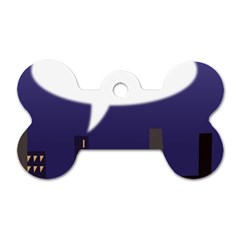 City Speech  Dog Tag Bone (two Sides) by theimagezone