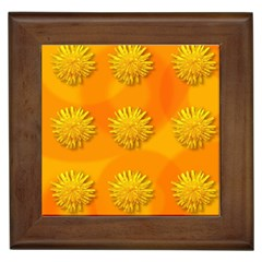 Dandelion Pattern Framed Tiles by theimagezone