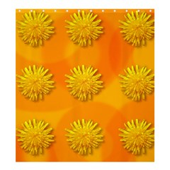Dandelion Pattern Shower Curtain 66  X 72  (large)  by theimagezone