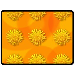 Dandelion Pattern Double Sided Fleece Blanket (large)  by theimagezone