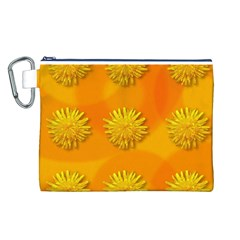 Dandelion Pattern Canvas Cosmetic Bag (l) by theimagezone
