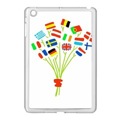 Flag Bouquet Apple iPad Mini Case (White) by theimagezone