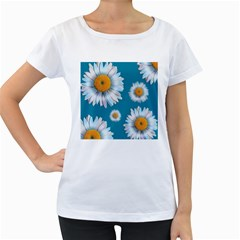 Floating Daisies Women s Loose Fit T Shirt (white) by theimagezone