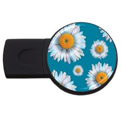 Floating Daisies Usb Flash Drive Round (4 Gb)  by theimagezone