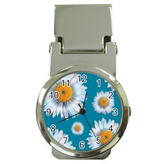 Floating Daisies Money Clip Watches by theimagezone