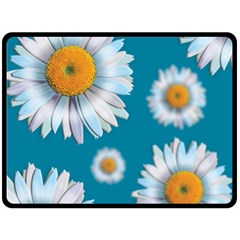 Floating Daisies Double Sided Fleece Blanket (large)  by theimagezone
