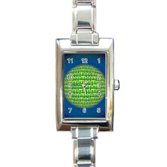 People Planet  Rectangle Italian Charm Watches by theimagezone