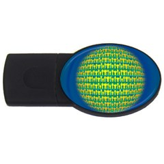 People Planet  USB Flash Drive Oval (4 GB)  by theimagezone