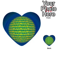 People Planet  Multi Purpose Cards (heart)  by theimagezone