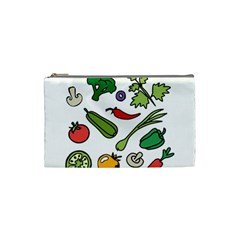 Vegetables 01 Cosmetic Bag (Small)  by Famous