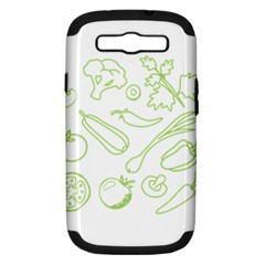 Green Vegetables Samsung Galaxy S Iii Hardshell Case (pc+silicone) by Famous