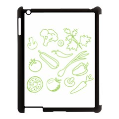 Green Vegetables Apple Ipad 3/4 Case (black) by Famous